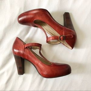 Frye Miranda T T Strap Mary Jane Heels